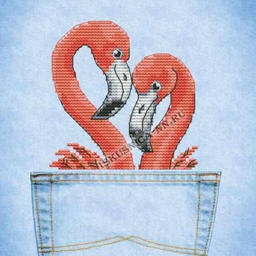 ВК05 Романтическая парочка (фламинго)
