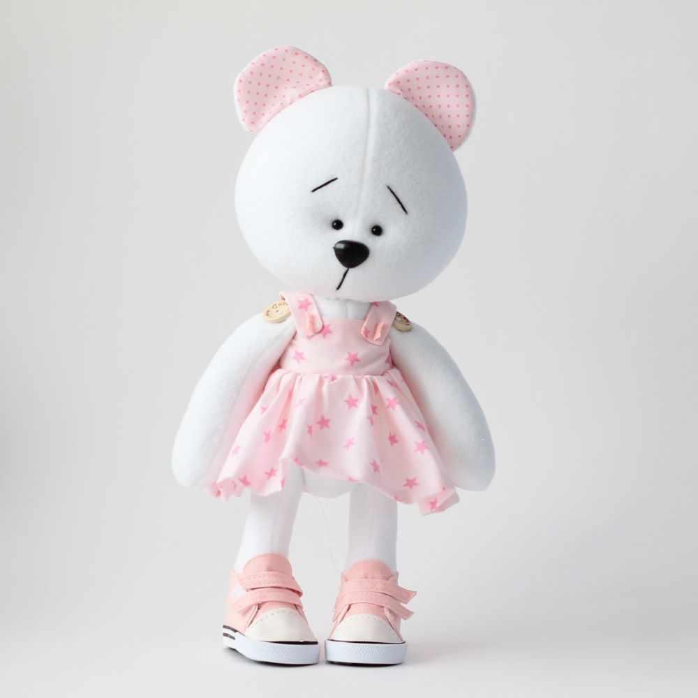 """Набор для создания текстильной куклы """"Мишка девочка"""""""