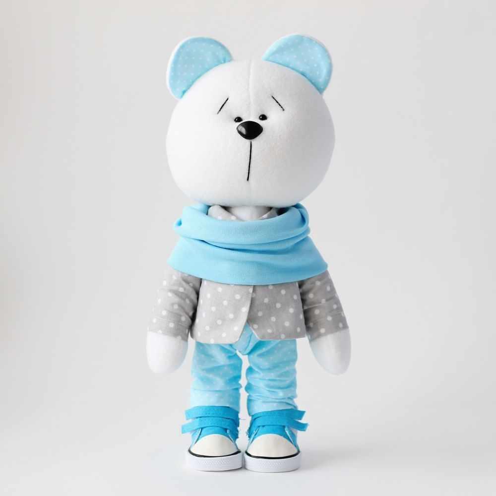 """Набор для создания текстильной куклы """"Мишка мальчик"""""""