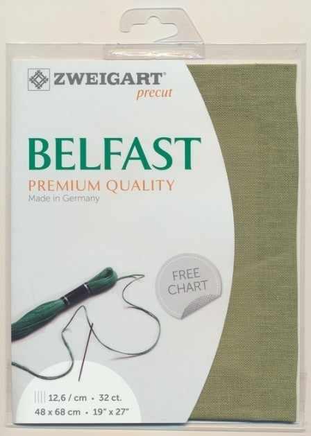 Канва Zweigart 3609 Belfast (100% лен) цвет 6016 шир 140 32ct