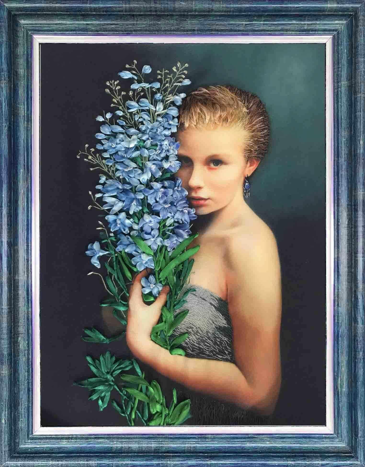 КЛ(н) 3025 Девушка с васильками - набор (Каролинка)