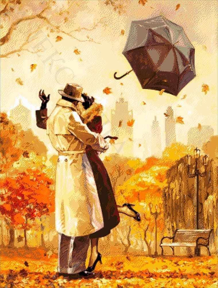 """34-3960-НО """"Осенний поцелуй"""" - набор для вышивания"""
