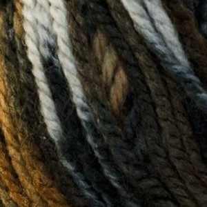 Пряжа YarnArt Crazy Color Цвет.171 Черно-бежево-белый меланж