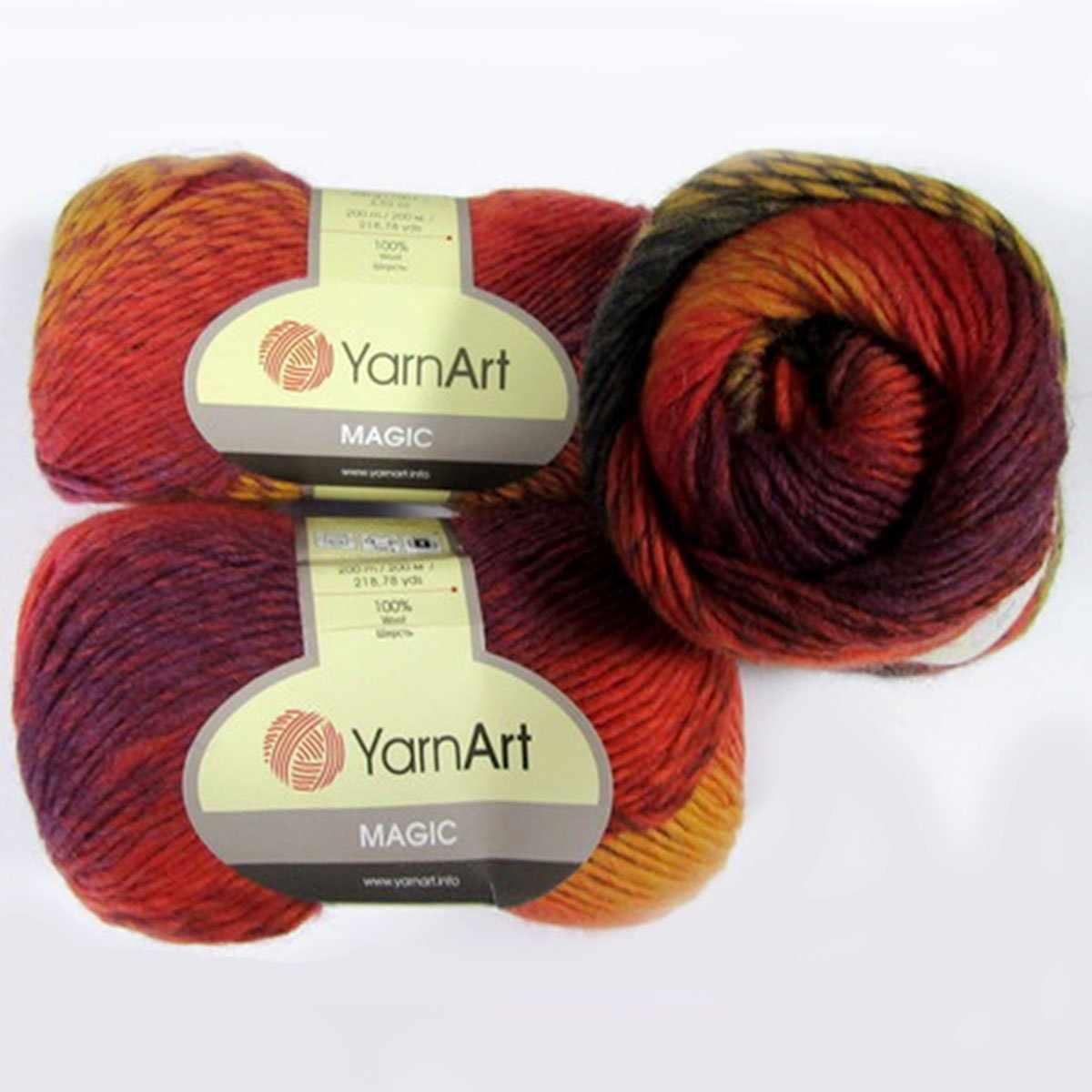 Пряжа YarnArt Magic Цвет.613 Горчично-фиолетовый