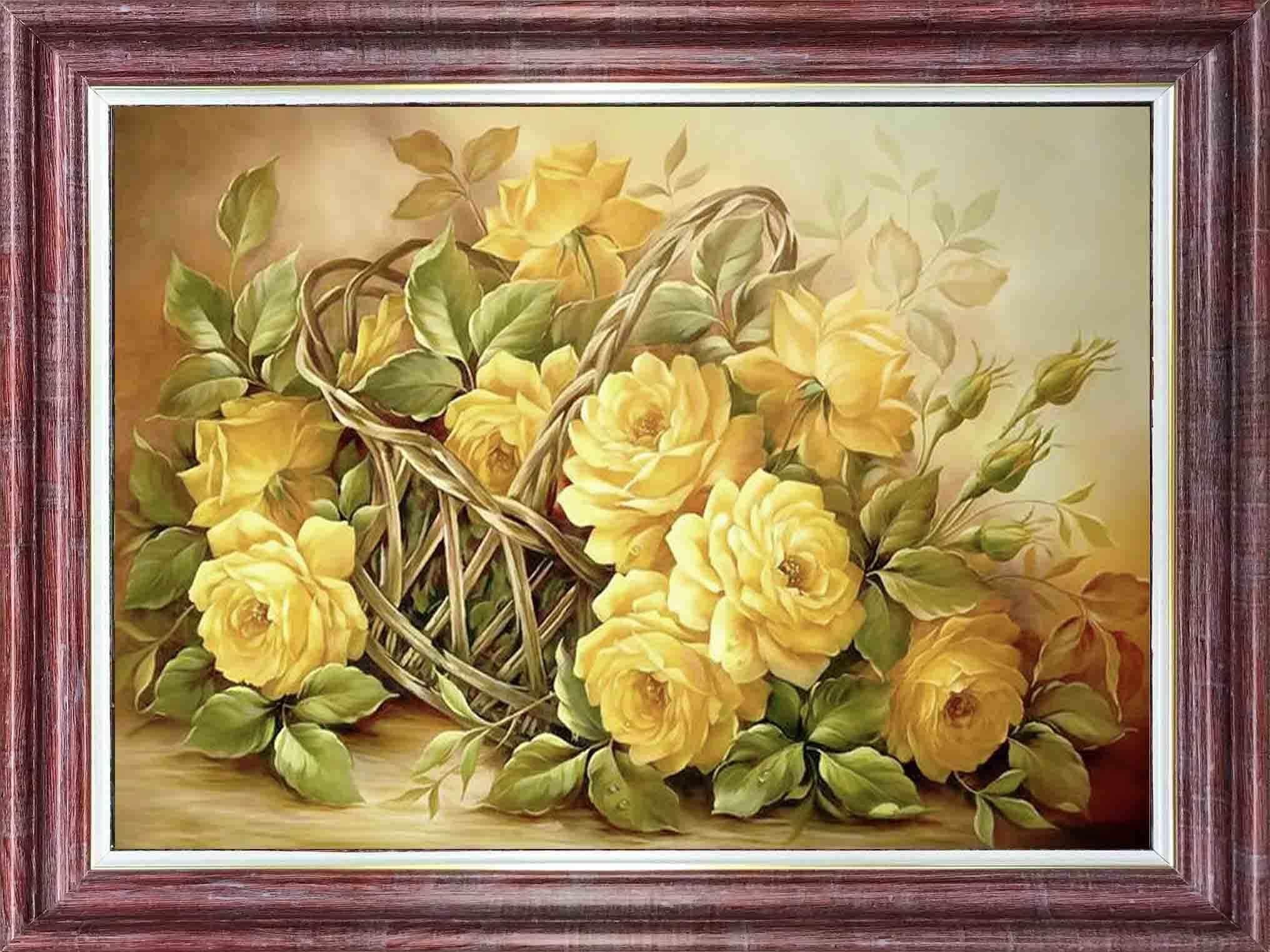КЛ 3043 Желтые розы - схема для вышивания (Каролинка)