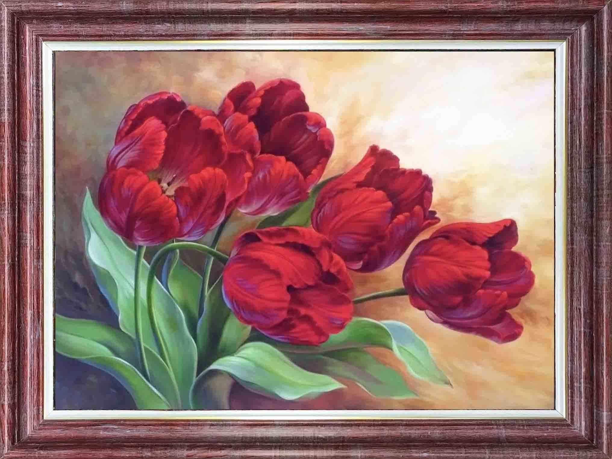 КЛ 3042 Тюльпаны - схема для вышивания (Каролинка)