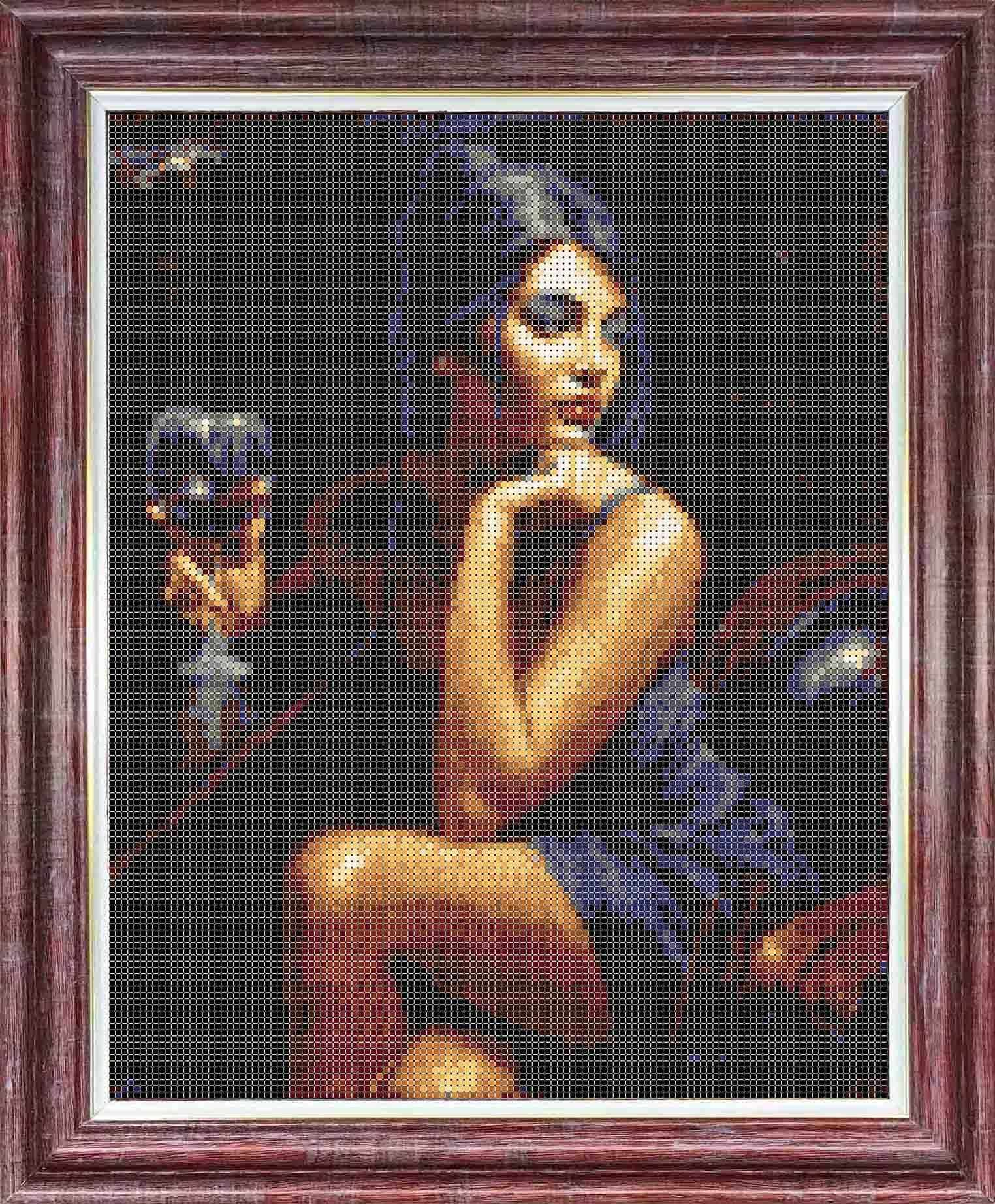 КТКН 146 (р) Девушка с бокалом -  набор (Каролинка)