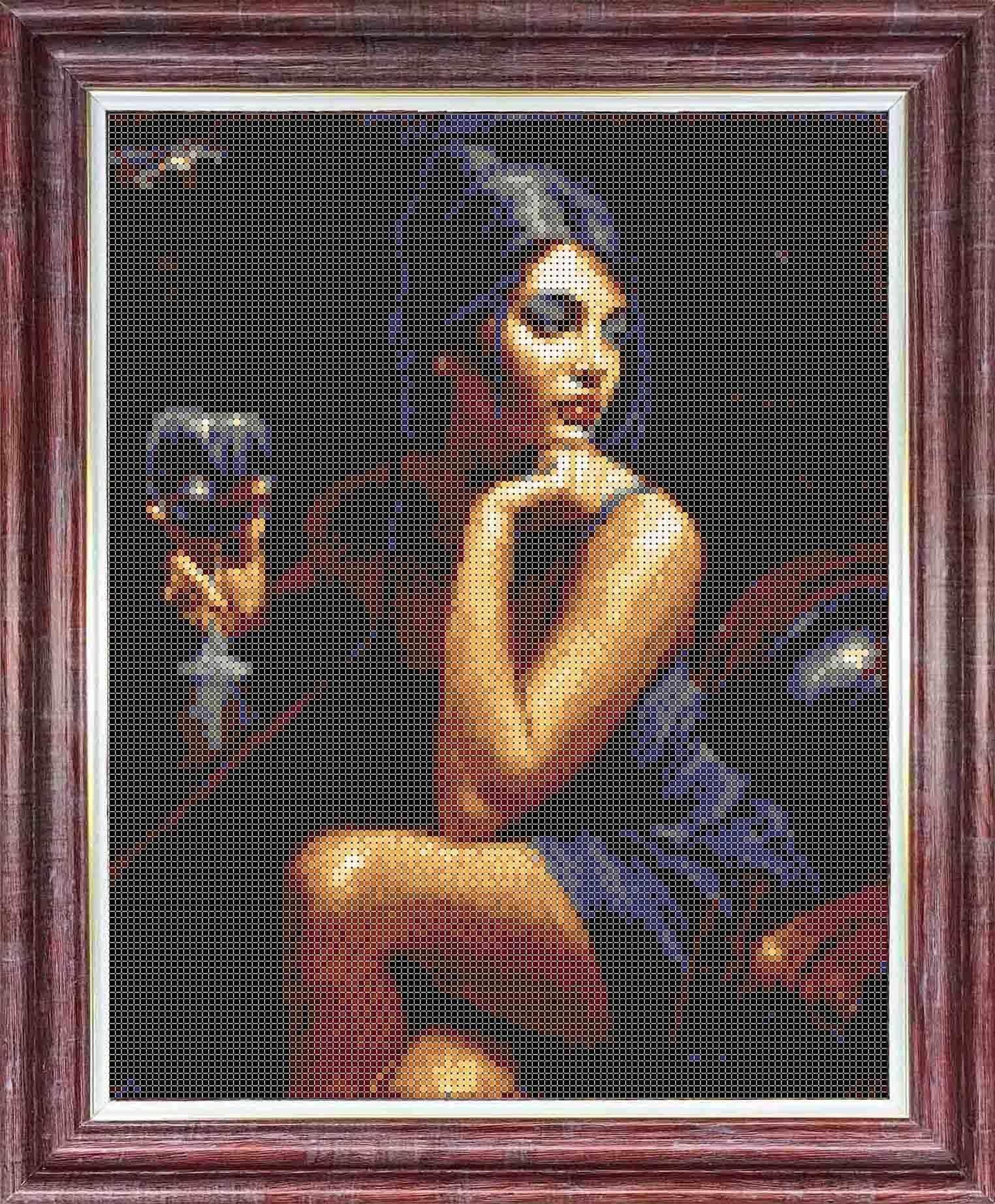 КТКН 146 Девушка с бокалом -  набор (Каролинка)