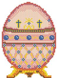 Д-107 Пасхальное яйцо 3 - схема для вышивания (Наследие)