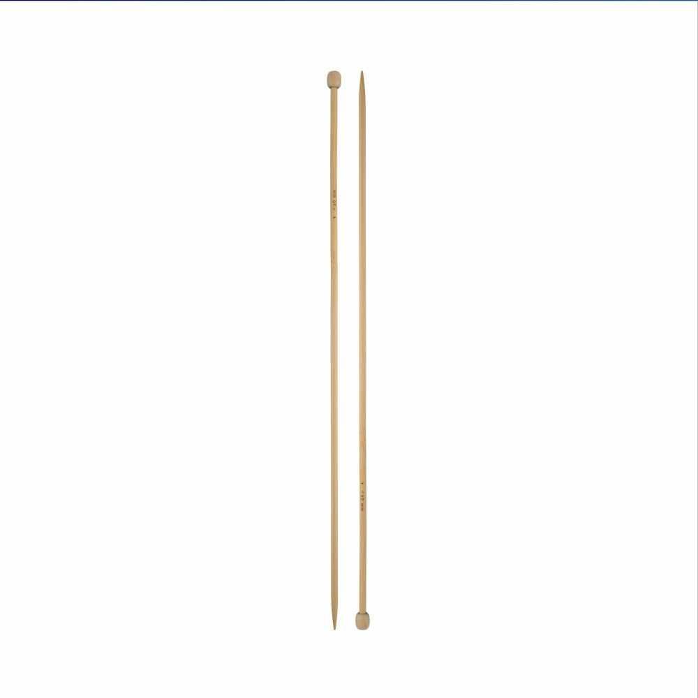 "Спицы прямые ""Гамма"" BL2 бамбук 3,0 мм 35 см (без чехла)"