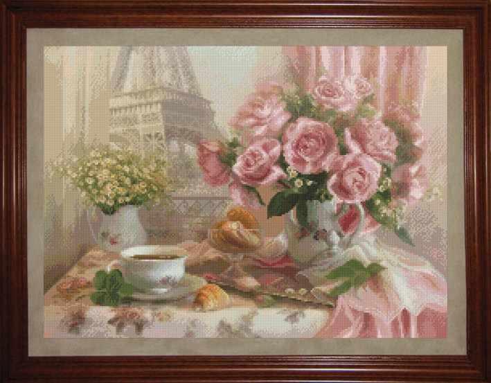 1403 Французский завтрак - набор для вышивания (Юнона)
