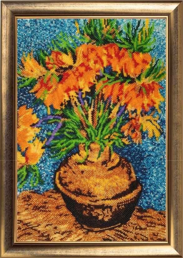 170 Цветы в медной вазе - Butterfly