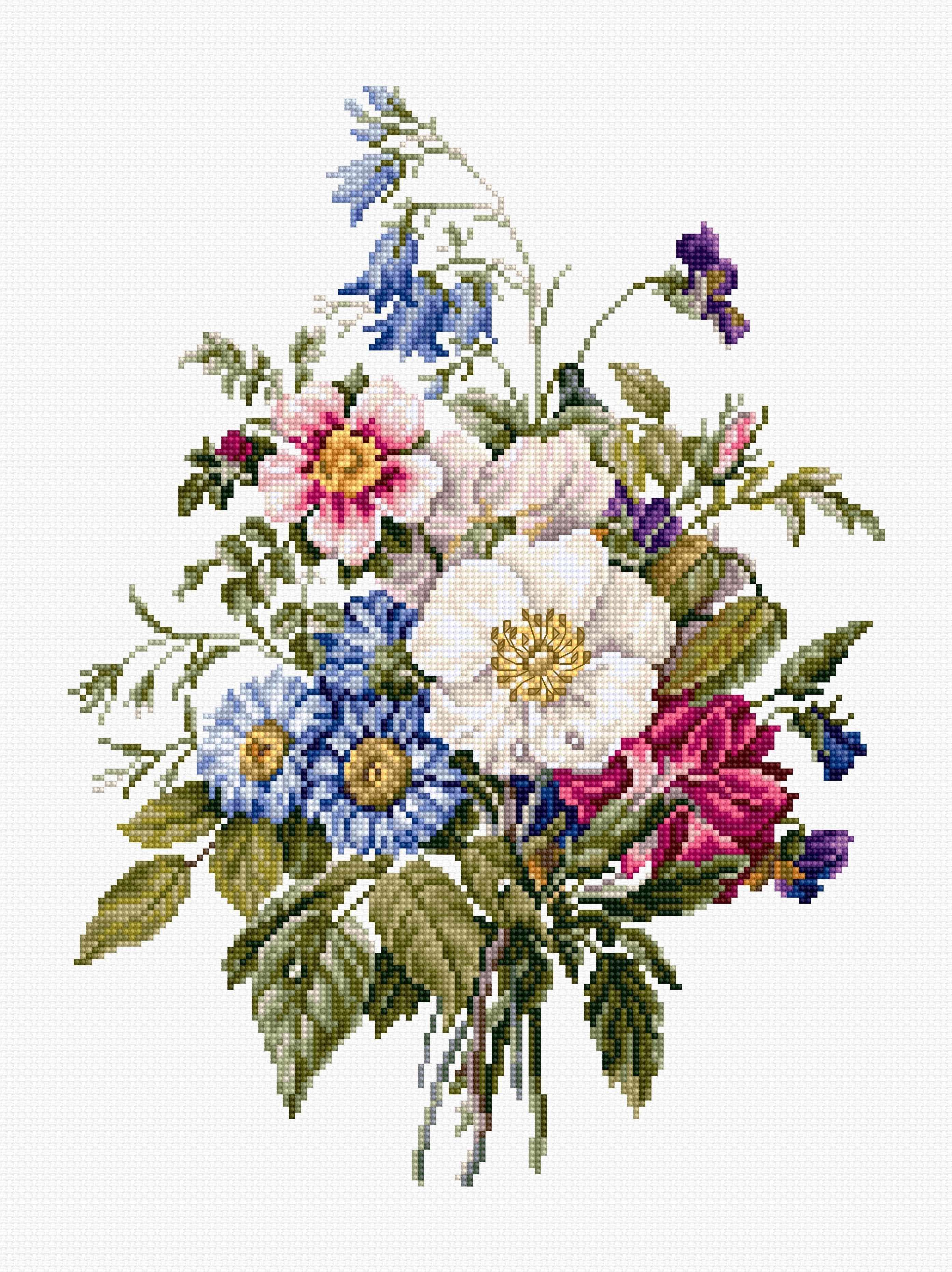 BU4004 Букет летних цветов (Luca-S)