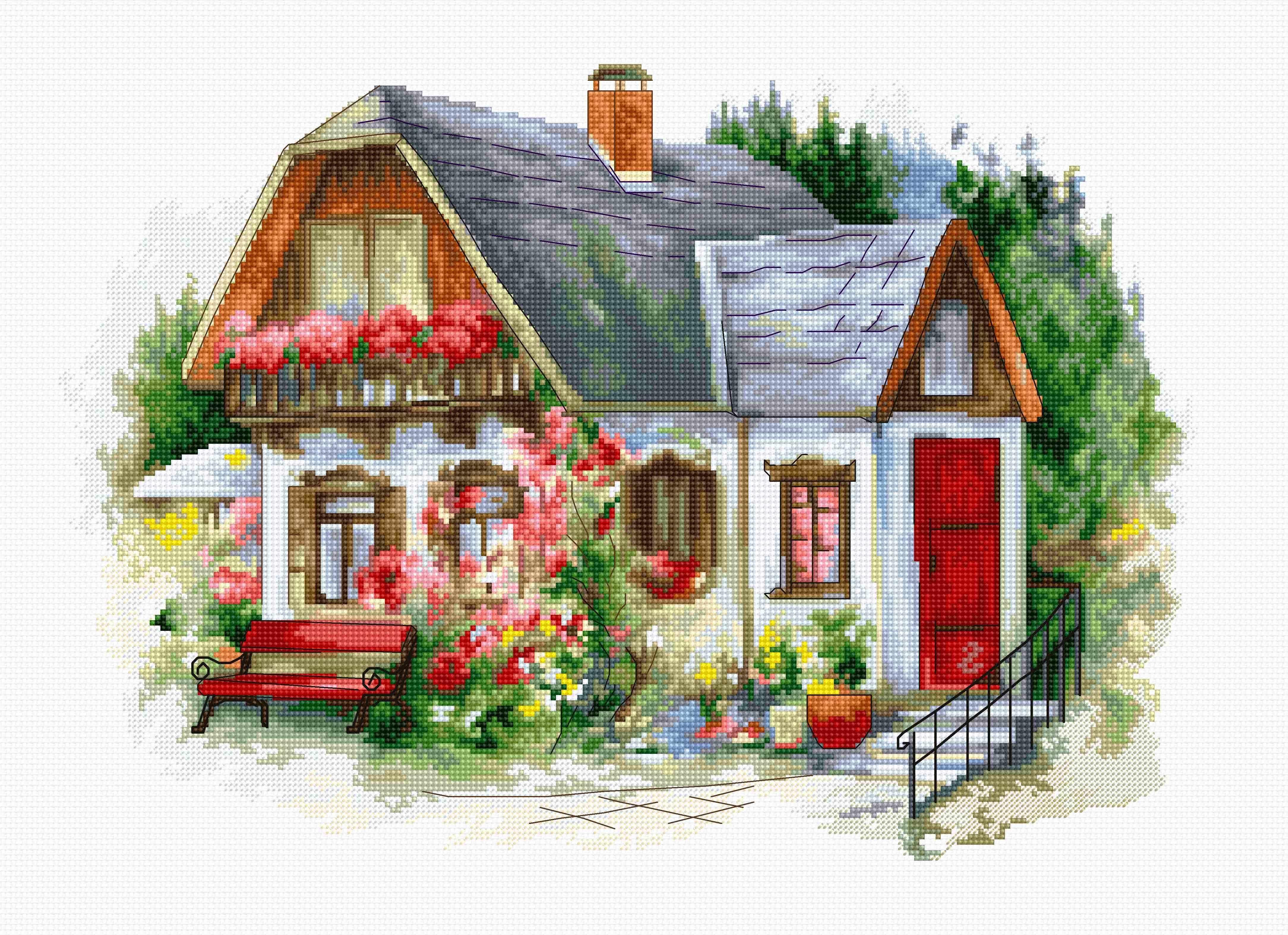 BU4005 Красивый загородный домик (Luca-S)