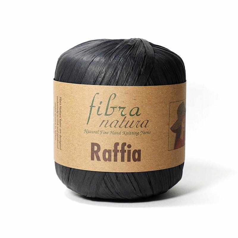 Пряжа  Raffia Цвет.116-12 Чёрный