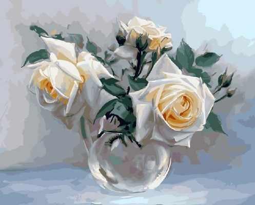 KH0193 Бузин. Белые розы