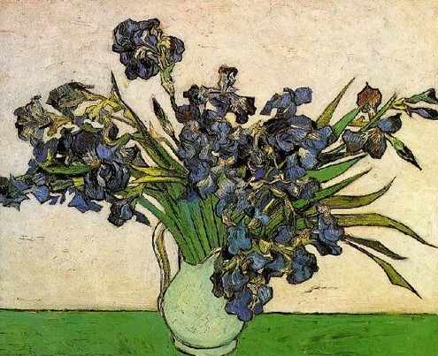 KH0150 Ван Гог. Ирисы в вазе