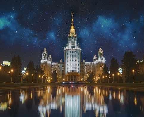 KH0119/1 Московский университет ночью