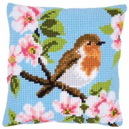 PN-0162393 Robin and blossoms (Vervaco)