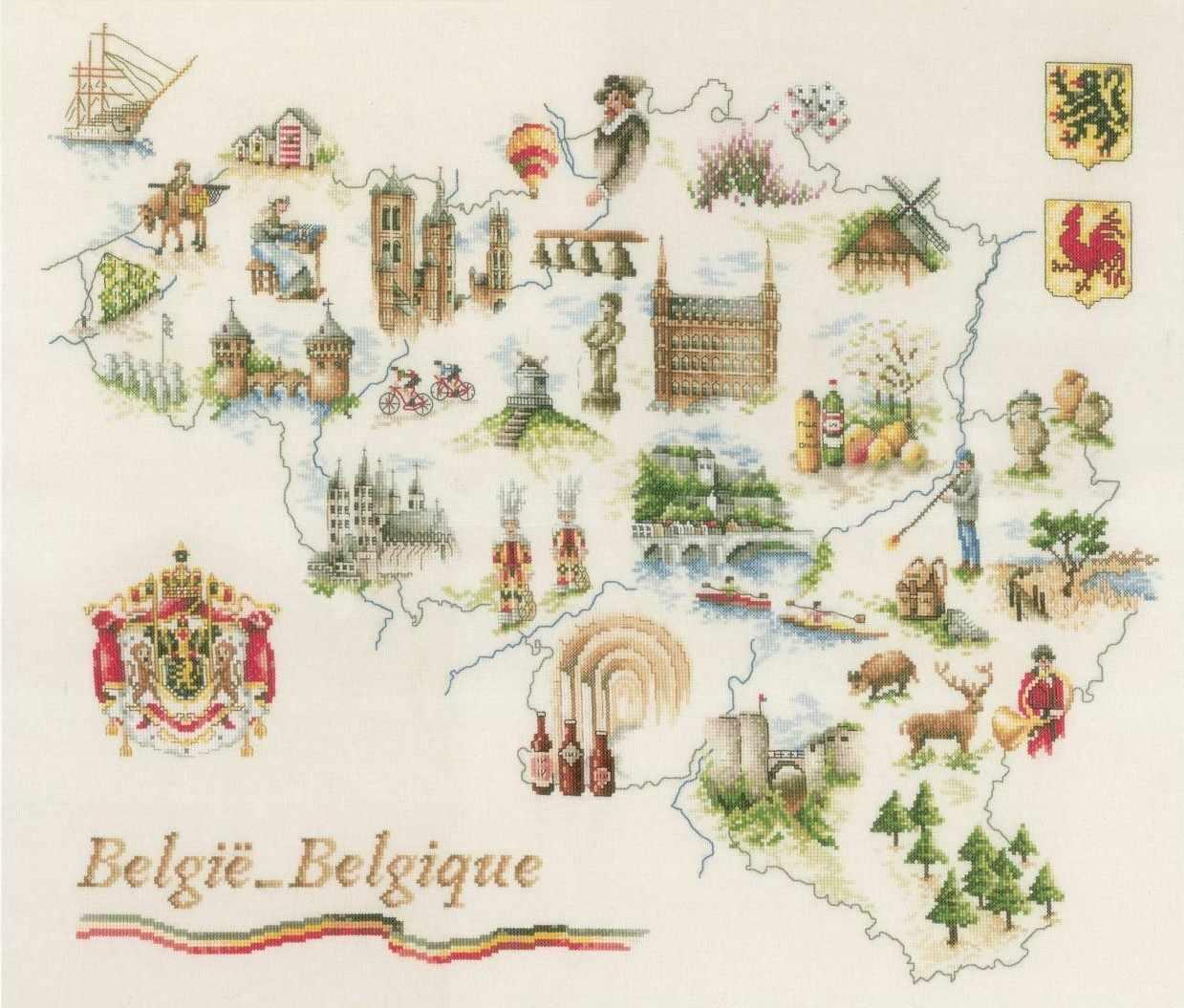PN-0173689 Map of Belgium (Lanarte)