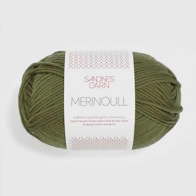 Пряжа SANDNES GARN Merinoull Цвет.9364 Olivengronn/олива