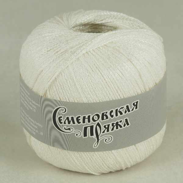Пряжа Семеновская Mone Цвет.Ультрабелый