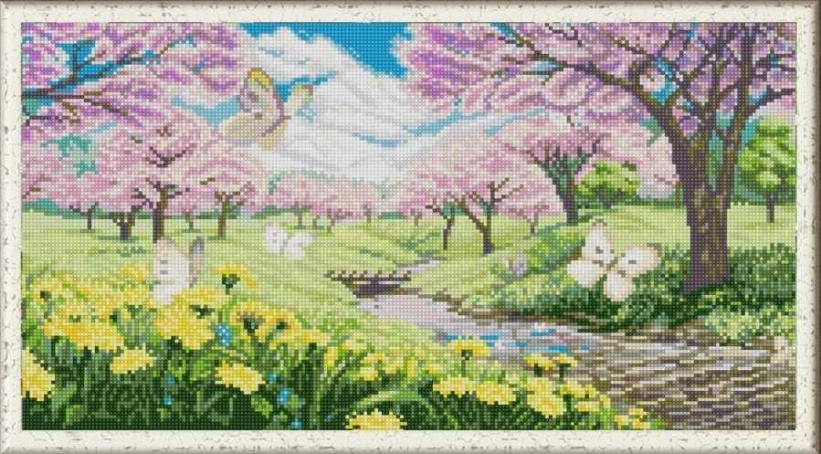 НИК 1277 Весна пришла - схема для вышивания (Конёк)
