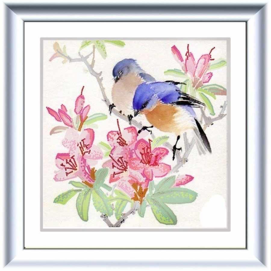 НИК 8487 Птицы на ветке - схема для вышивания (Конёк)