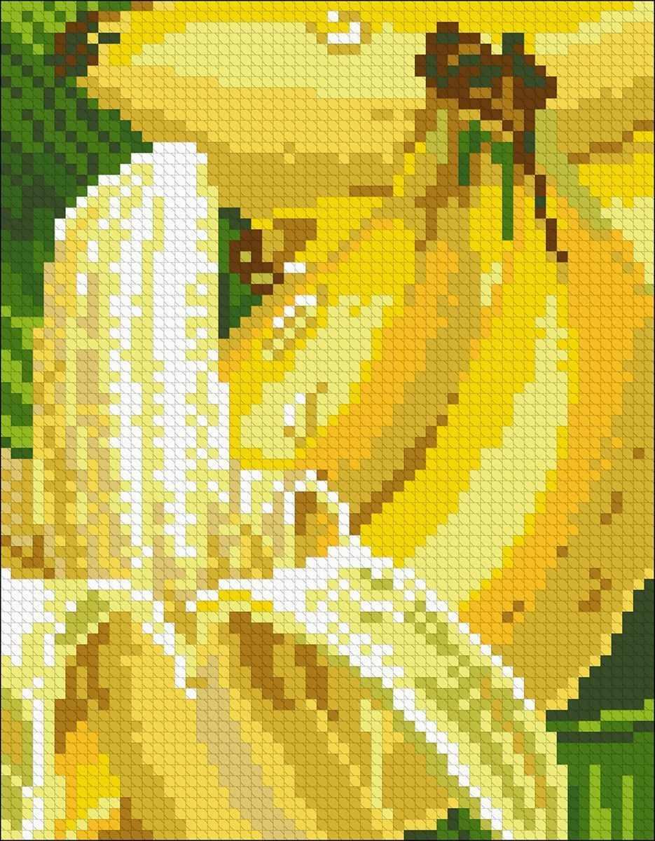 Алмазная вышивка М275 Бананы - мозаика (Паутинка)