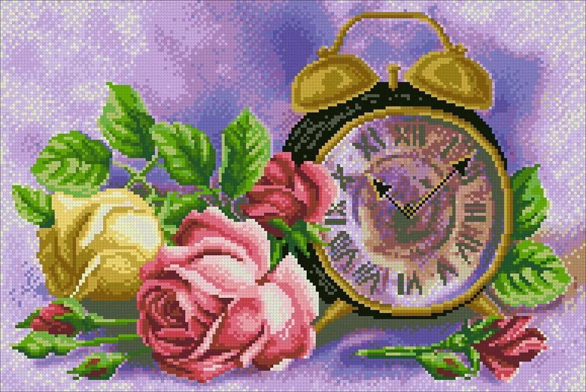 Алмазная вышивка М270 Розовый час - мозаика (Паутинка)