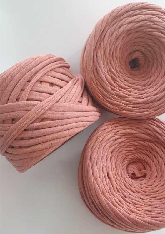 Трикотажная пряжа Цвет. Розовый меланж