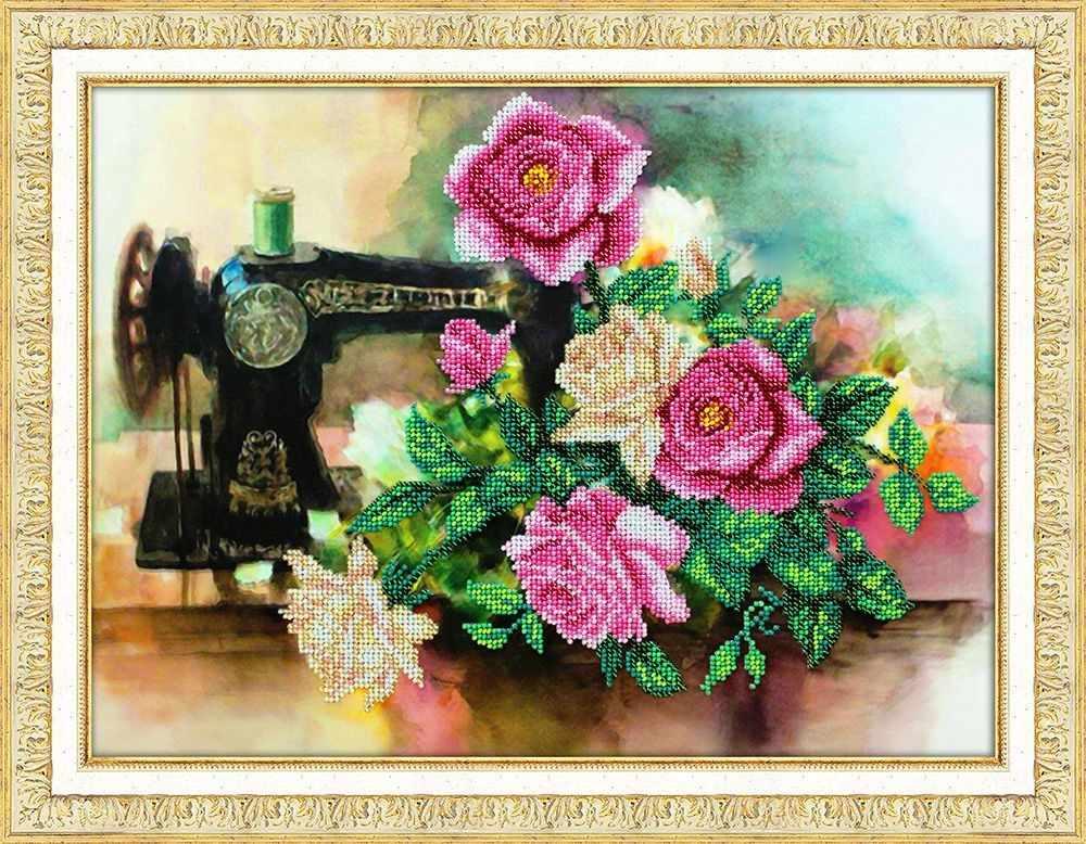 Б1286 Розы для рукодельницы (Паутинка)