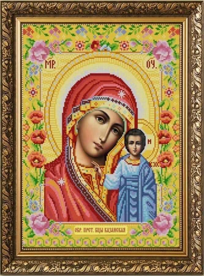 НИК 9261 Богородица Казанская - схема для вышивания (Конёк)