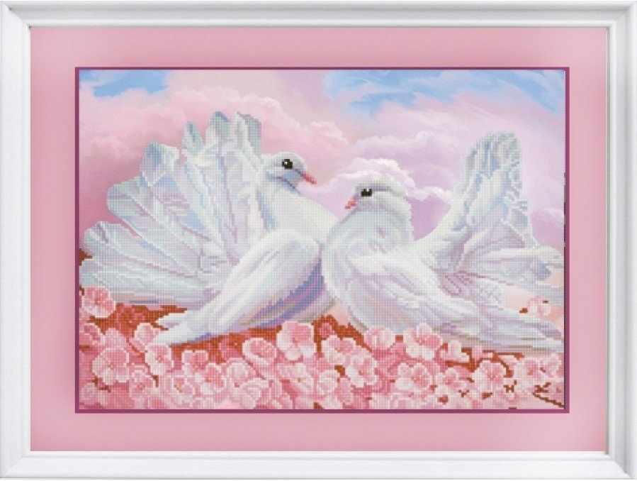 НИК 1279 Любовь и голуби - схема для вышивания (Конёк)
