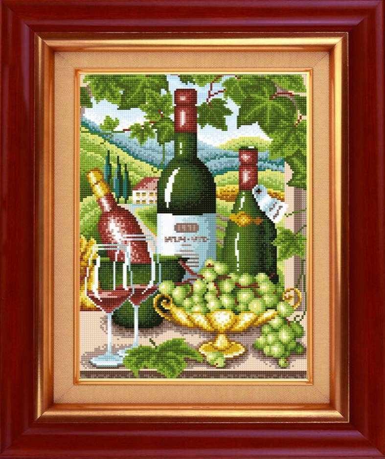 """Алмазная вышивка 0085 """"Вино и виноград"""""""
