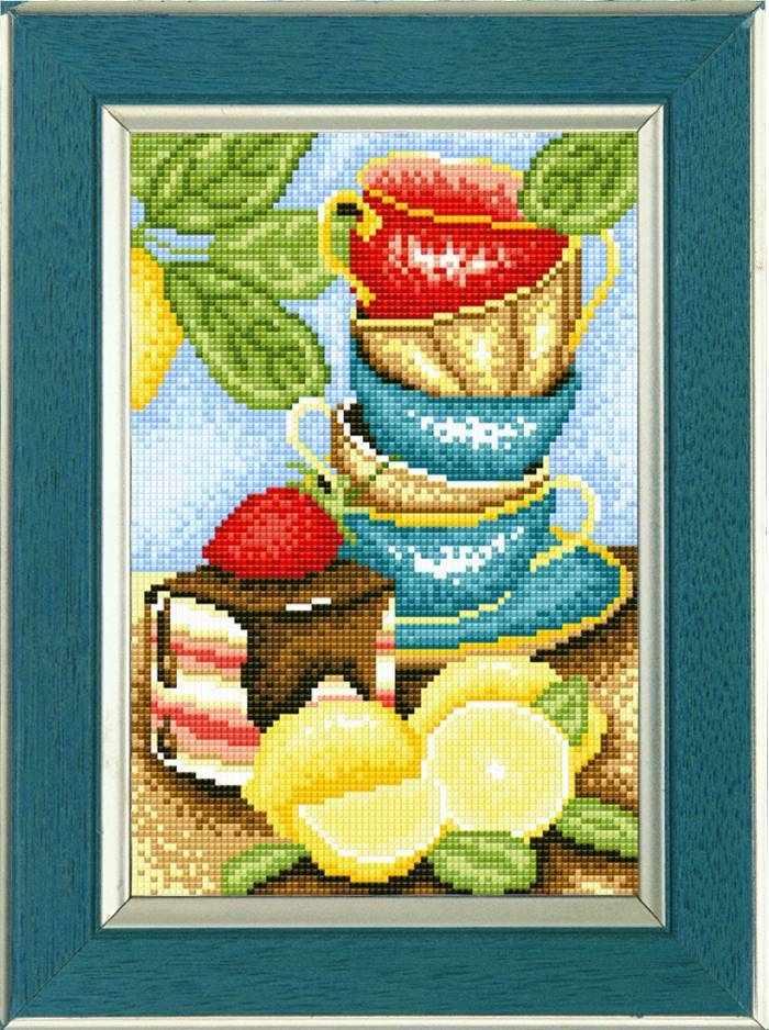 """Алмазная вышивка 0043 """"Кружки и лимоны"""""""
