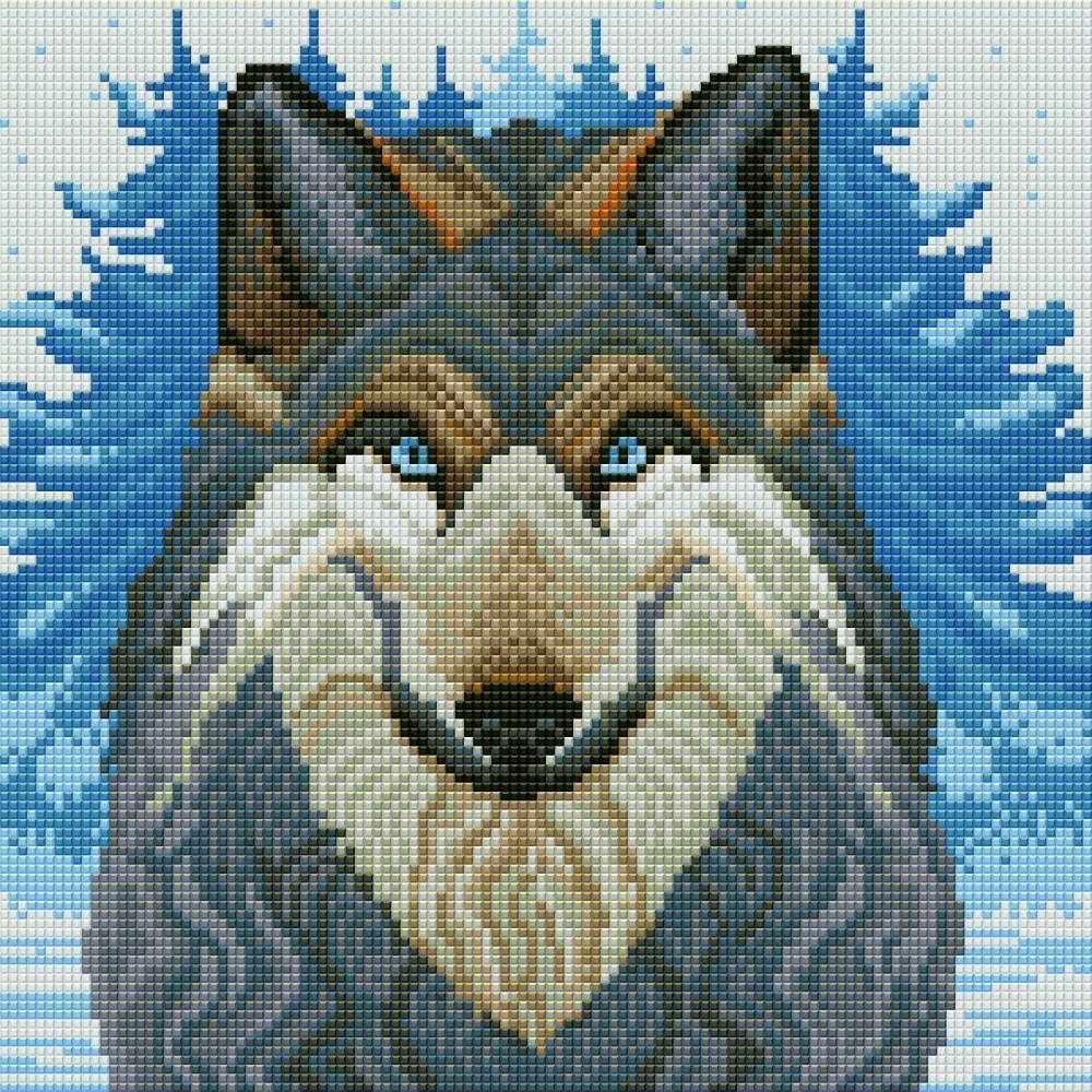 """Алмазная вышивка 0076 """"Волк"""""""