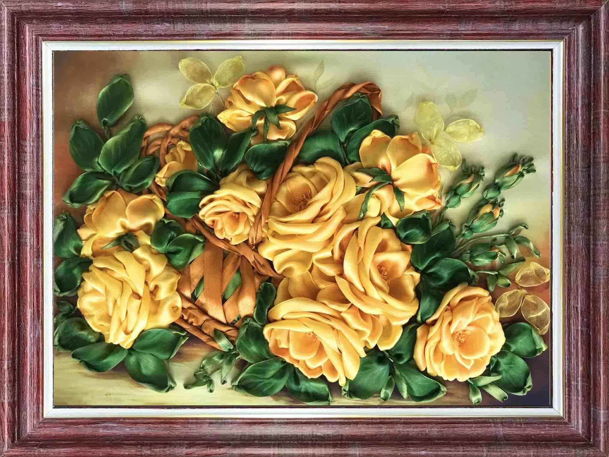 КЛ(н) 3030 Желтые розы - набор (Каролинка)