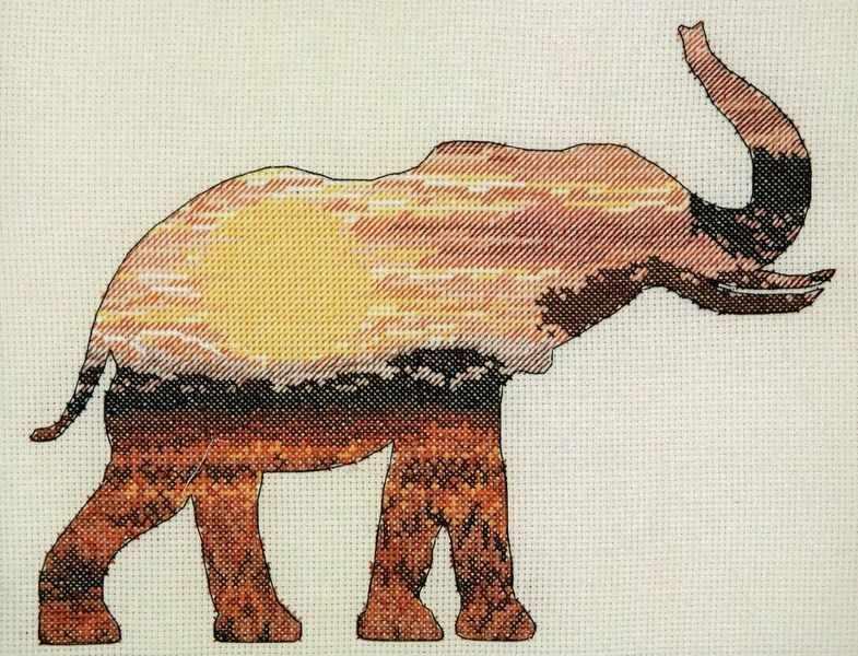 5678-5040 Слон в саванне