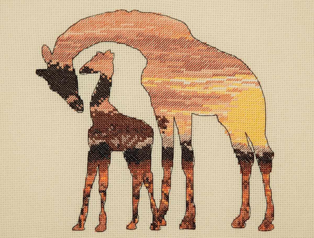 5678-5042 Жирафы в саванне