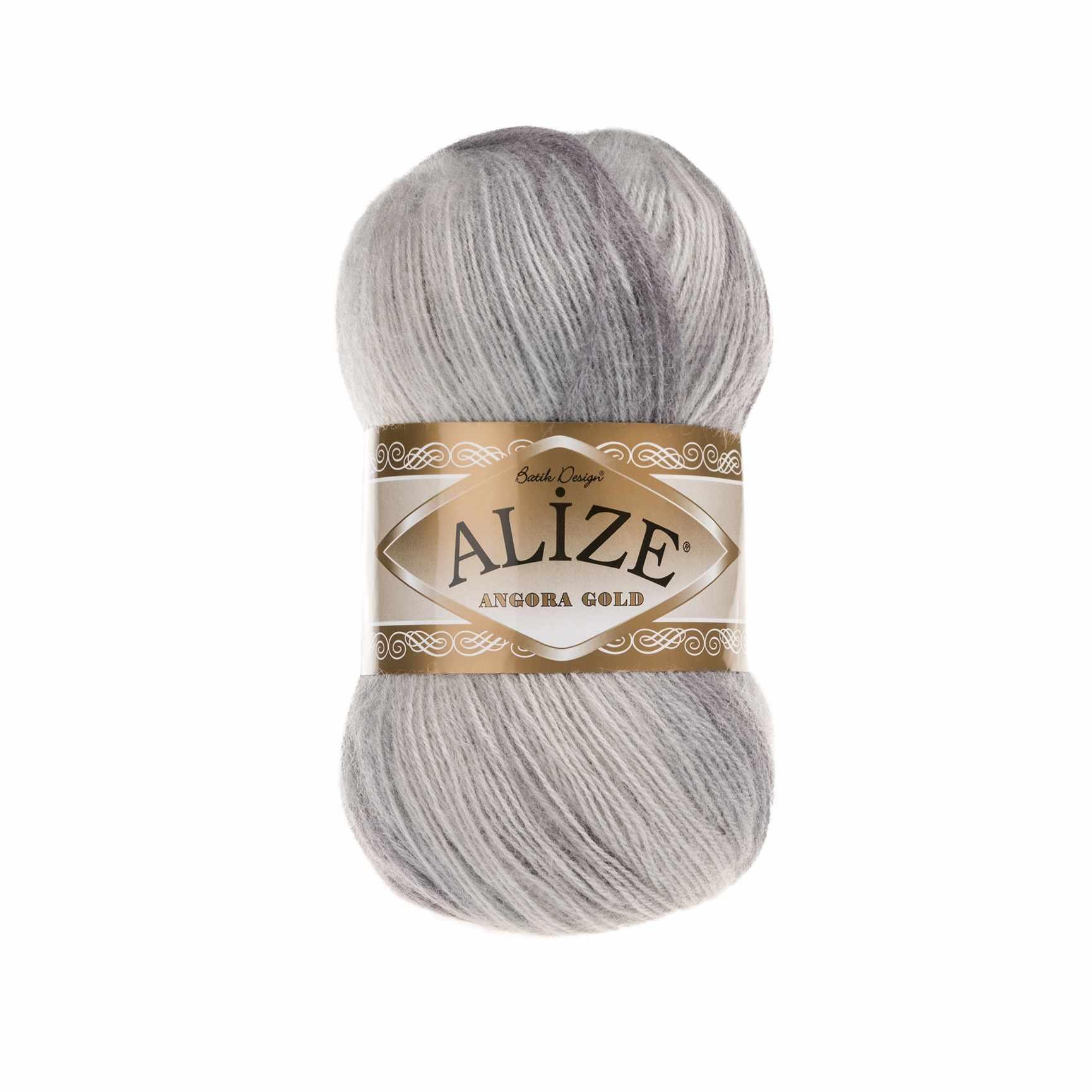 Пряжа Alize Angora Gold Batik Цвет.6959 Бело.бл.сирень