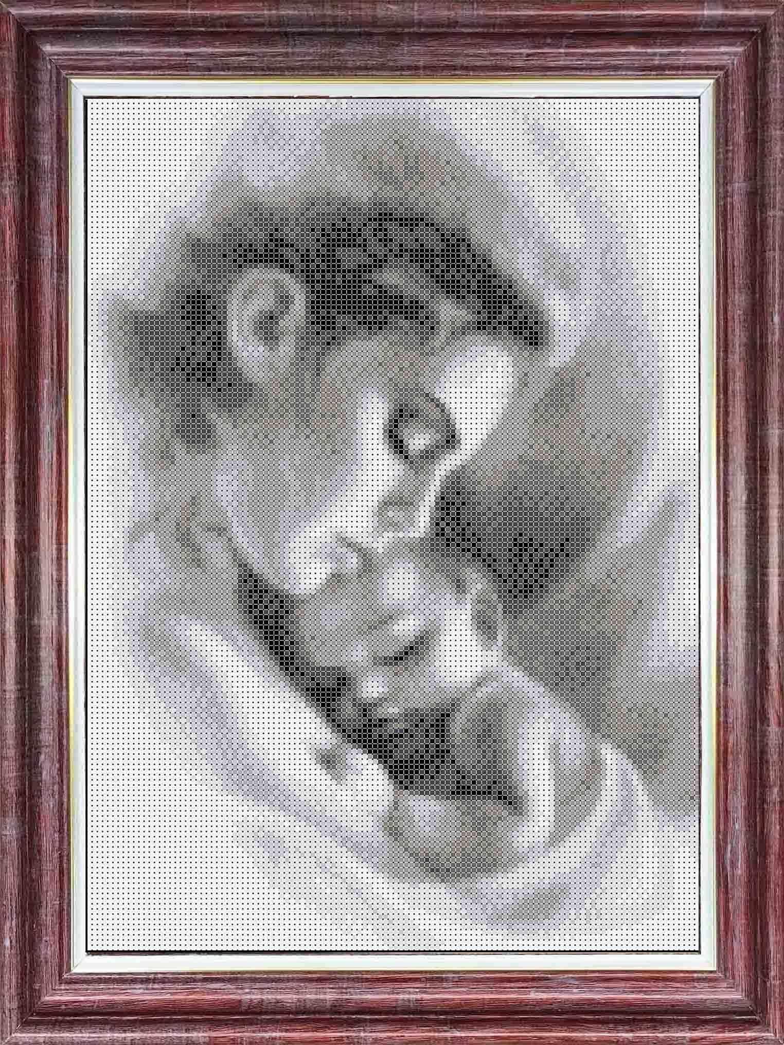 кбл(э) 3047 Мать и ребенок - схема для вышивания (Каролинка)