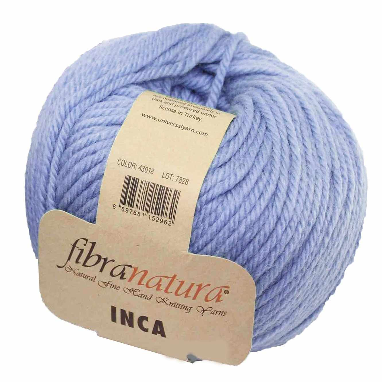 Пряжа Fibra Natura Inca Цвет.43018 св.сирень