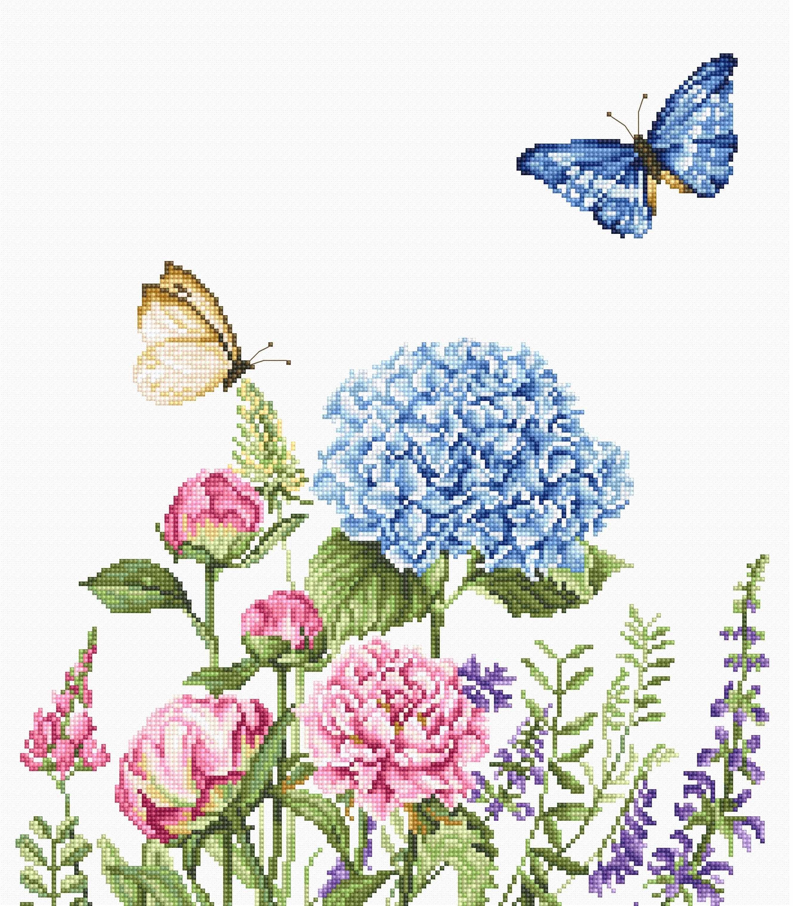 B2360 Летние цветы и бабочки (Luca-S)