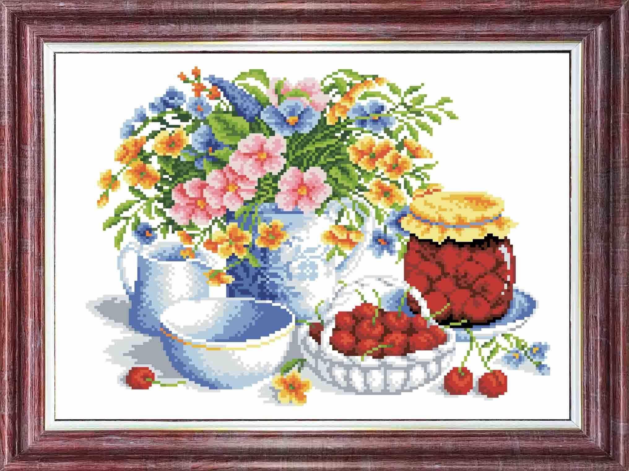 кткн153 (р) Вишневое варенье - набор (Каролинка)