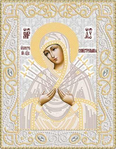 РИК-4052 Образ Пресвятой Богородицы ''Семистрельная''  - схема (Марiчка)