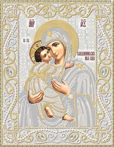 РИК-4042 Владимирская икона Божией Матери  - схема (Марiчка)