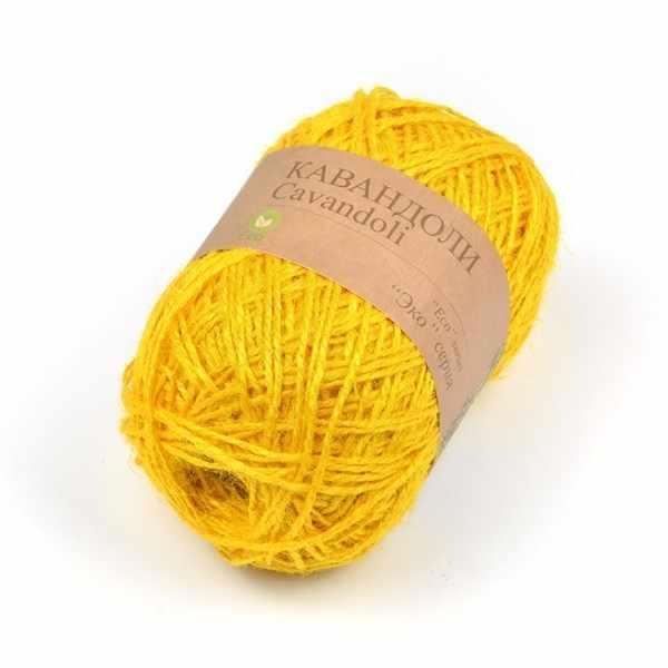 Пряжа Пехорка Кавандоли Цвет.06 Желтый