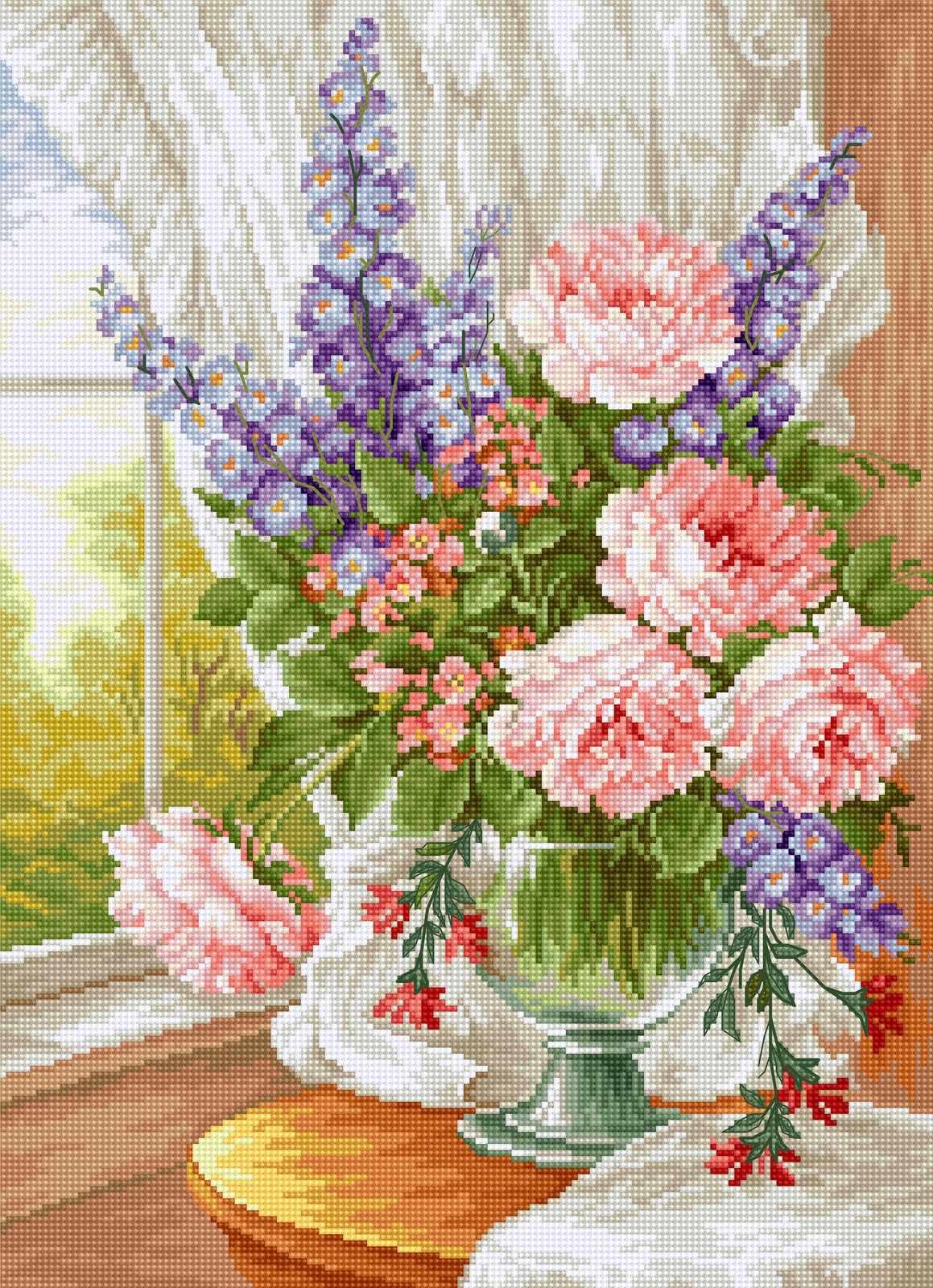 BU4016 Цветы у окна