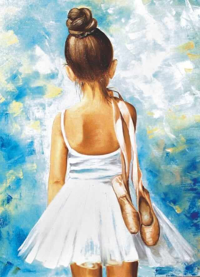 Алмазная вышивка le013 «Маленькая балерина»